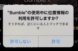 BumbleのGPSの許可