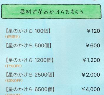 星の王子様メッセージの料金表